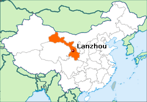 Lokatie Lanzhou in China